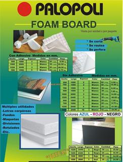 Placa Foam Board Palopoli Espesor 3mm 50x100cm Blanca