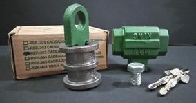 Fechadura Cadeado King Chave Tetra 303 Porta Enrolar Kit C/5