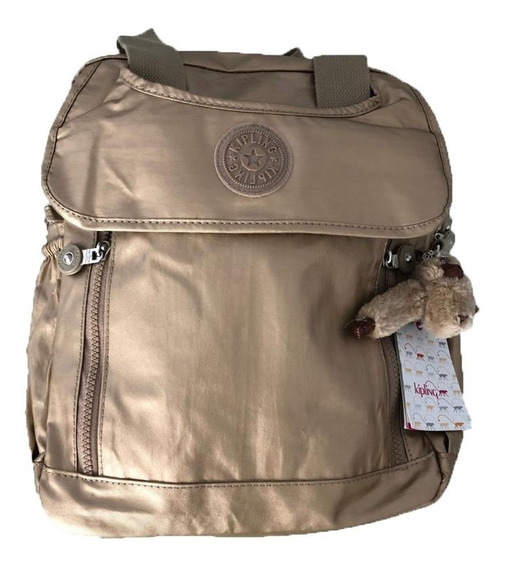 Mochila Kipling Casual Backpack -nuevo Modelo- Color Oro