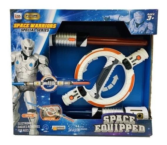 Set Espadas Y Disco Espacial Con Luz Y Sonido Lny Lm666-20