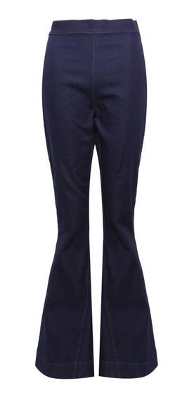 Calça Cantão Jeans Flare Boca Sino Azul Tam 44