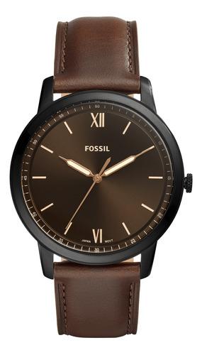Imagen 1 de 10 de Reloj Hombre Fossil The Minimalist 3h Analogo