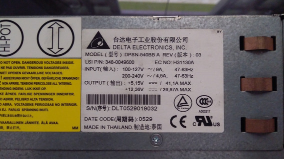 Fonte Ibm Profibre Storage Array Df4000r Dpsn-540bb