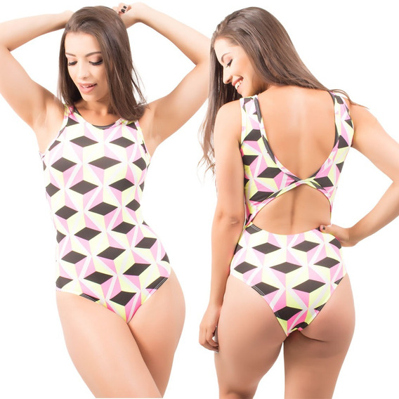 Body Regata Fitness Feminina Academia Suplex Estampado Verão