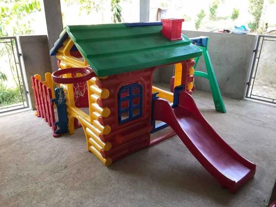 Casinha Infantil Playground Usado Completo P/retirar Cotia!