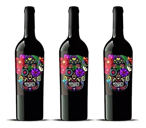 Combo 3 Pack Vino Tinto De Muerte Botella 0,70l Winery-on