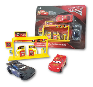 Set De 2 Carritos Cars Rayo Macqueen C Accesorios 6cm