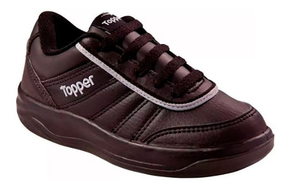 Zapatillas Topper Colegial Negro Tie Break Kids