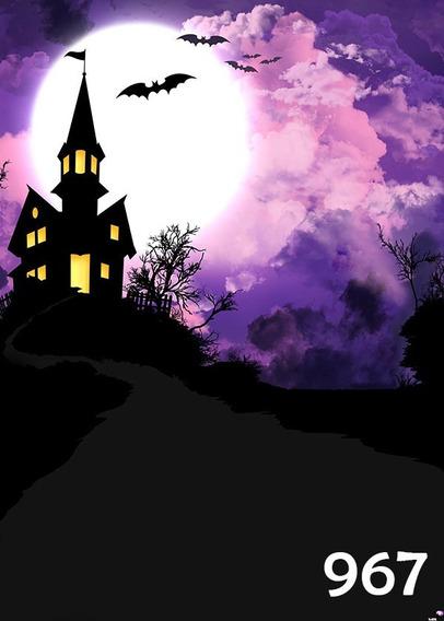 Fundo Fotográfico Temático De Halloween - Tam. 1,40x2,00m