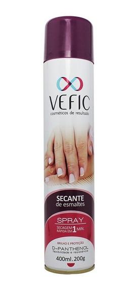 Secante De Esmaltes Spray 400ml Vefic