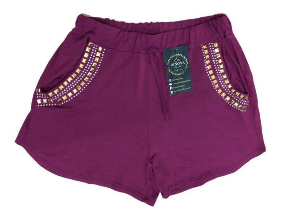 Kit 5 Shorts Boxer Viscolycra Pedraria Blogueira Instagram