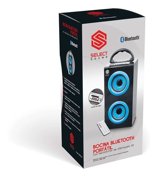 Bocina Bluetooth Portatil Con Pantalla Usb/tarjeta Sd Select