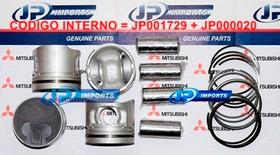 Pistao + Anel Std L200 Hpe 2.5 8v Pajero Sport Hpe 2.5 8v