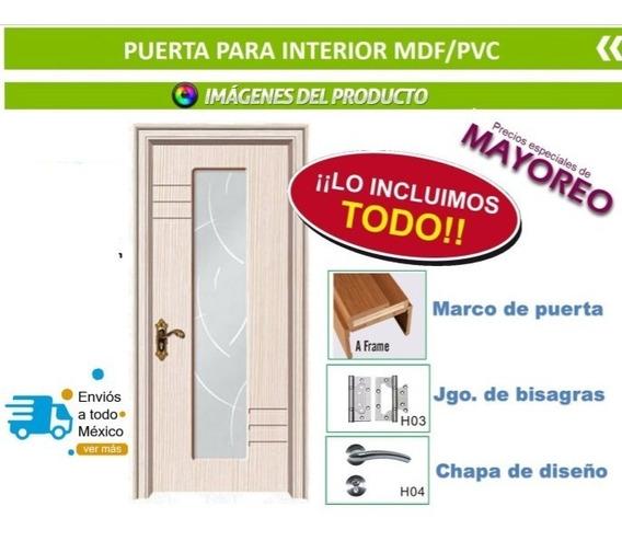 Puerta De Madera Material Mdf/pvc