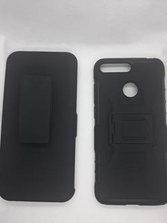Protector Uso Rudo Con Clip Para Huawei Y6 2018