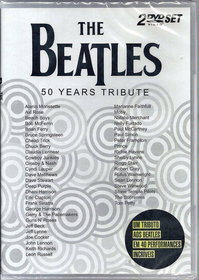 The Beatles Dvd 50 Years Tribute Duplo Lacrado Fabrica Rock
