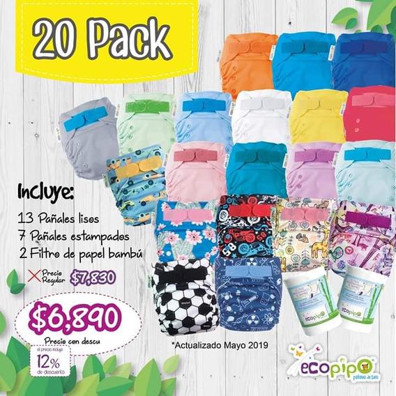 Pañales Ecológicos Ecopipo (20 Pack)