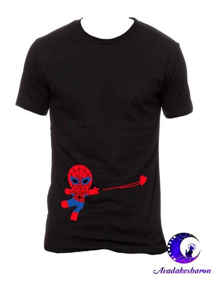 Camiseta Estampada De Spider-man Marvel Parejas