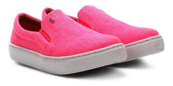 Tênis Slip On Feminino Santa Lolla Nas Cores Amarelo E Rosa Neon - 01ac