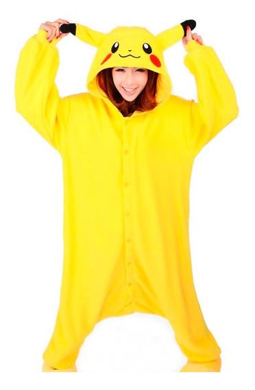Kigurumi Pijama De Pikachu Tela Hipoalergenica Y Bordado