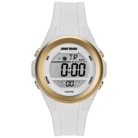 Relógio Mormaii Feminino Maui Branco Dourado Mo3800aa/8b