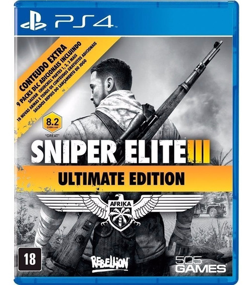 Sniper Elite Iii - Jogo Ps4 Original - Midia Fisica Lacrado