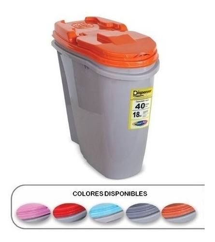 Contenedor De Alimento 40 Litros/18kg Dif. Colores Mas Envio