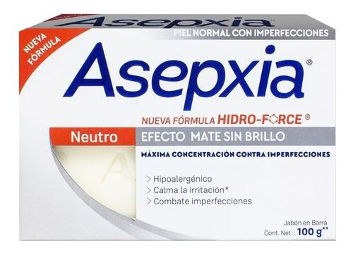 Asepxia Jabón En Barra Efecto Neutro Mate Sin Brillo 100grs