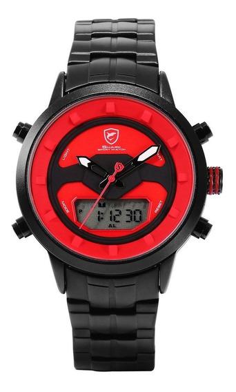 Black Shell Volante Aço Strap Relógio De Quartzo Relógio De