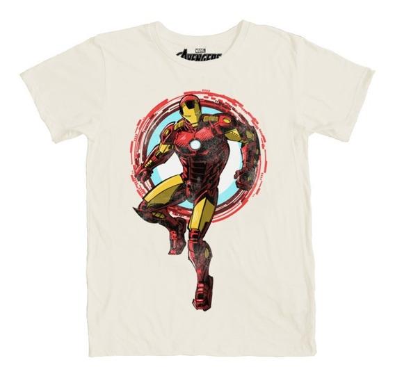 Máscara De Latex Playera Iron Man Golden Avenger