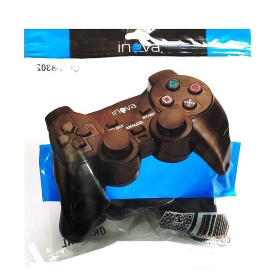 4 Controle Joy Stick Playstation 2 Inova 147b Atacado