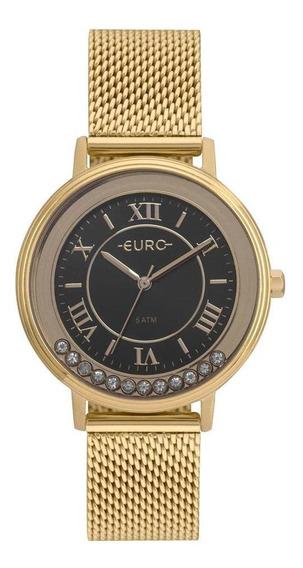 Relógio Euro Crystal Move Feminino Dourado Eu2035yru/4p