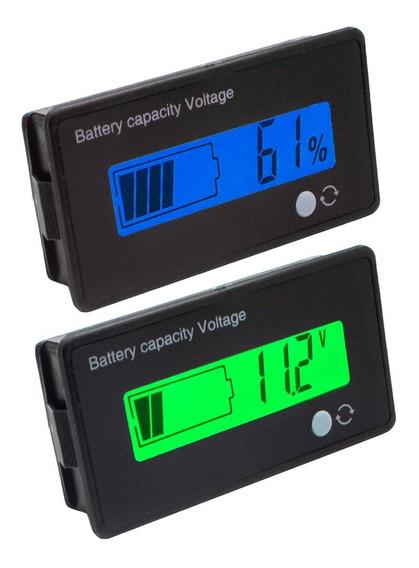Voltímetro Medidor Bateria 12v Porcentagem Som Carro Moto