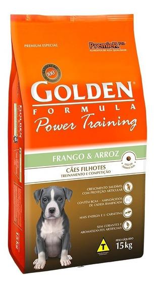 Ração Golden Power Training Cães Filhotes Frango E Arroz 15k