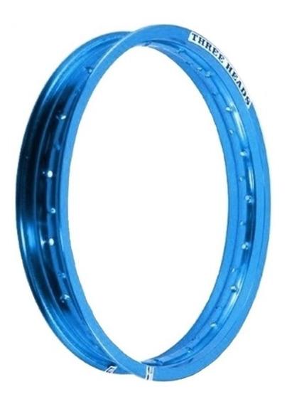 Aro Three Heads Azul 215x18 Titan Xr 200 Factor Ybr Xtz 125