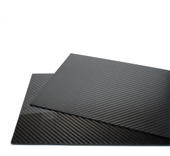 Placa Chapa De Fibra De Carbono (390 Mm X 250 Mm X 2,0 Mm)