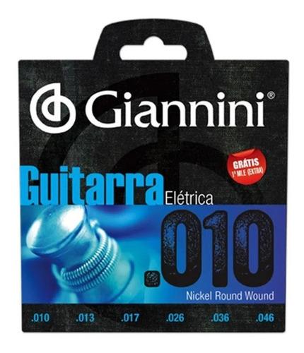Imagem 1 de 3 de Encordoamento Giannini Geegst10  010 Para Guitarra