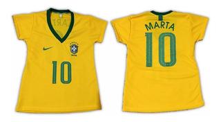 Camisa Da Marta Seleção Brasileira Feminina Copa Do Mundo 19