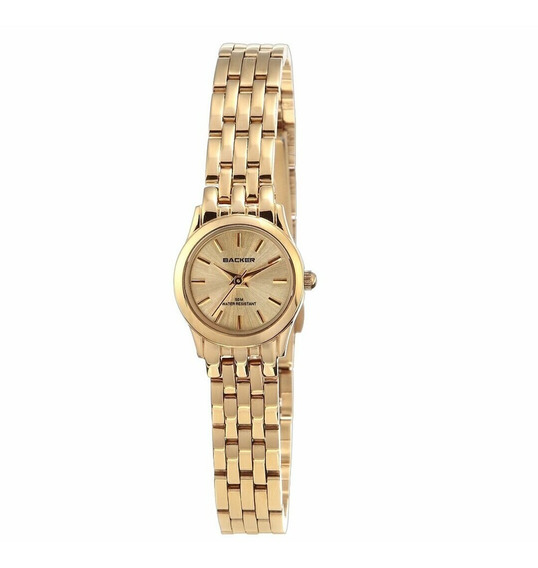 Relógio Backer Dourado Feminino 3456175f