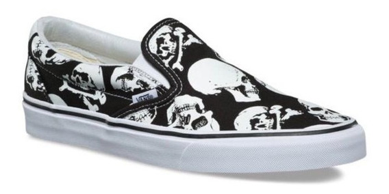 Tenis Vans Slip-on Skulls Edition