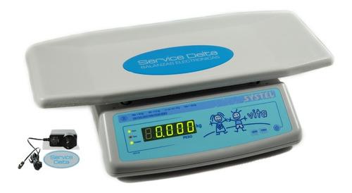 Imagen 1 de 4 de Balanza Pediatrica Vita Bebes Digital  Premium Service Oficial Systel Delta