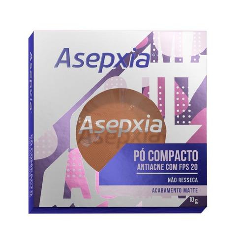 Imagem 1 de 1 de Asepxia Pó Compacto Antiacne Fps20 Marrom - 10g