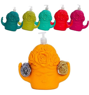 Dispenser Detergente Organizador Esponja Cocina Frida Diseño