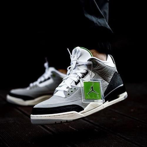 Air Jordan Retro 3 Gs Chlorophyll