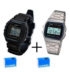 Combo Relógios Casio W218 E A158wa Originais C/caixa Manual