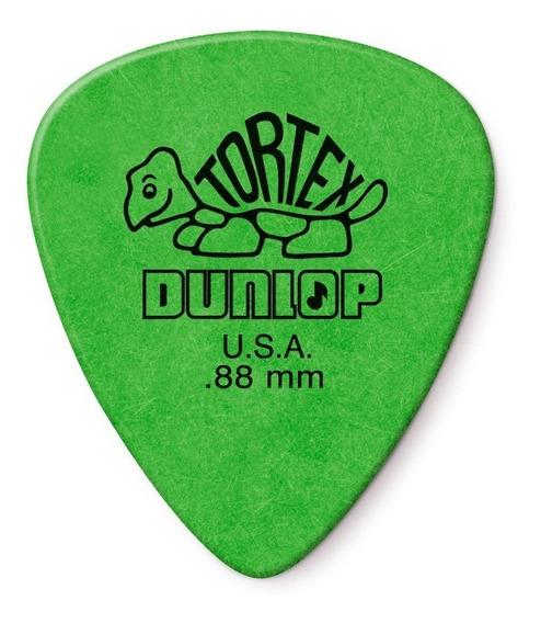 Palheta Dunlop Tortex 0,88mm 12 Un - Verde