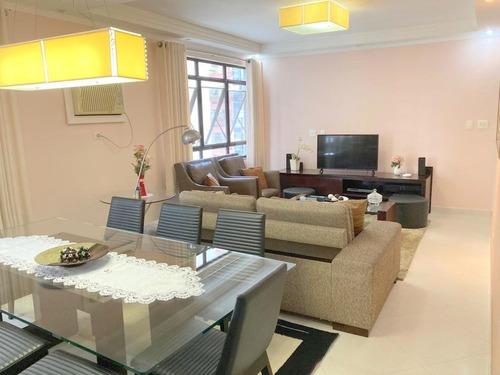 Apartamento Com 3 Dormitórios À Venda, 147 M² Por R$ 770.000,00 - Pompéia - Santos/sp - Ap1643
