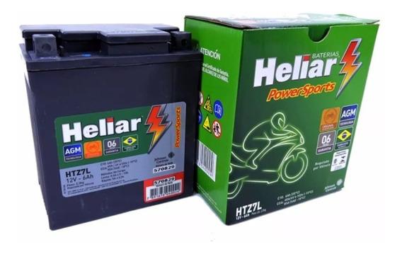 Bateria Moto Fazer250 Heliar Htz7 Original Honda