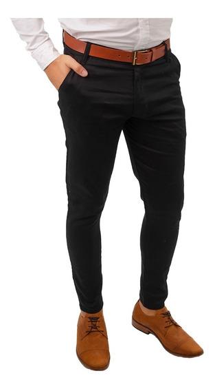 Pack X3 Combo Pantalones Hombre Vestir Corte Chino Chupin