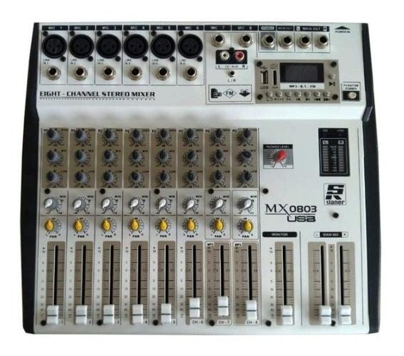 Mesa De Audio 8 Canais Mx-0803 Usb Staner